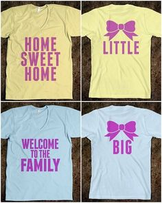 Home Sweet Home and welcome to the family on the back and the big little on a pocket
