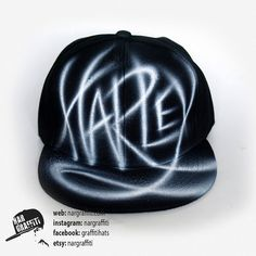 SNAPBACK hat with your CUSTOM GRAFFITI name hand painted airbrushed  baseball cap personalized gift for boys and girls 9e8ffe33f8d7