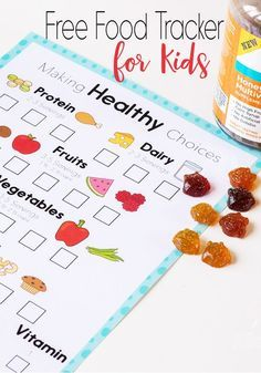 This free printable food tracker is great for encouraging kids to eat healthy. No shaming, but lots of visual support for making good food choices.