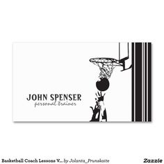 Basketball Coach Business Card Basketball Coach Business Cards