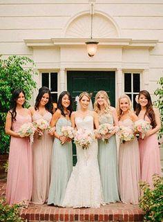 Платье подружки невесты персикового цвета