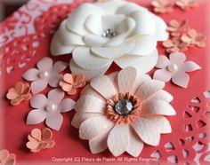 $Fleurs de Papier ~クラフトパンチや花紙で作る立体のお花いろいろ~-クラフトパンチフラワーのカード