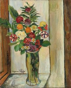 VALADON Suzanne - Fleurs, 2e quart 20e siècle. Saint-Tropez ; musée de l'Annonciade.