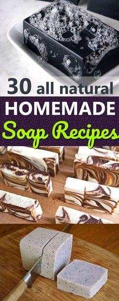 30 Basic Homemade Soap Recipes | How to Make Soap at Home #home #diy #homemade #recipe