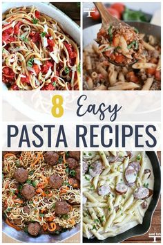 These Easy Pasta Dishes are perfect for busy week nights! Make homemade lasagna without ricotta or a simple sausage Alfredo that even your picky eaters will love. Best Pasta Recipes, Chicken Pasta Recipes, Healthy Dinner Recipes, Pasta Meals, Party Recipes, Cheese Recipes, Baking Recipes, Homemade Lasagna, Homemade Pasta