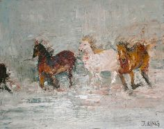 "Saatchi Art Artist Jenny King; Painting, ""Running Free"" #art"
