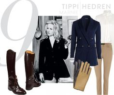 equestrian style inspired by  Hitchcock's Marnie