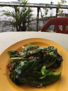 Stir fry baby Kai lan - Season Live Seafood restaurant at Pulau Ubin SG