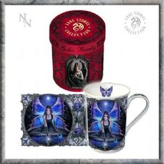 Anne Stokes Bone China Mug: Aracnafaria Gothic Spider Fairy in red and black Coffee Cup Anne Stokes, Dark Fantasy, Dragons, Gothic Hippie, Every Witch Way, Gothic Fairy, Water Reflections, China Mugs, Some Ideas