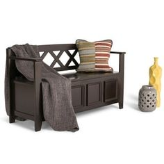Shop for WYNDENHALL Halifax Entryway Storage Bench. Get free shipping at Overstock.com - Your Online Furniture Outlet Store! Get 5% in rewards with Club O! - 14794176