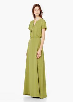 Appliqué gown - Dresses for Woman | MANGO
