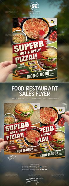 Restaurant Food Flyer Template #design Download: http://graphicriver.net/item/restaurant-food-flyer/7526847?ref=ksioks