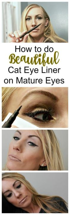 Tutorial on how to do Cat Eye eyeliner on Eyes Over 40 – Beauty and Make Up Tips from jenny at dapperhouse blog
