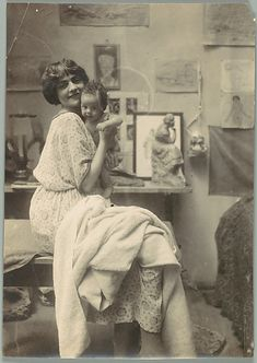 A Mother & Child, ca. 1900s photograph, mothers day, art, beauti, old pictures, sculptur, old photos, new moms, baby momma