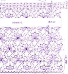 japanese open floral crochet stitch pattern