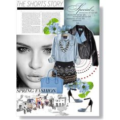 """THE SHORTS STORY"" by k-hearts-a on Polyvore"