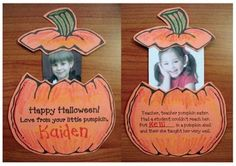 """Pumpkin activities: FREE Pumpkin craft to go along with the nursery rhyme """"Peter Peter Pumpkin Eater."""" Includes craft patterns plus a poster poem. Halloween Patterns, Halloween Crafts For Kids, Halloween Activities, Autumn Activities, Halloween Themes, Fall Crafts, Fall Halloween, Preschool Halloween, Group Activities"""