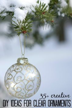 35+ Creative DIY Ideas for Clear Glass Ornaments