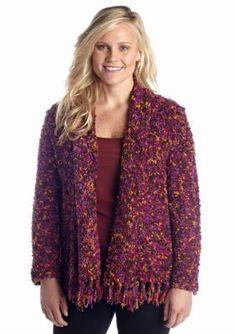 Ruby Rd  Plus Size Fringe Sweater