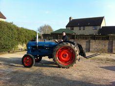Ford Tractors, Vintage Tractors, Farm Gardens, Childhood, British, Plant, Modern, Tractors, Vehicles