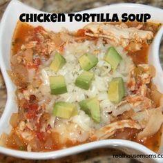 Chicken Tortilla Soup Recipe - Real Housemoms & ZipList