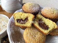 Muffin+con+cuore+di+nutella++++Ingredienti+++++330+g+di+farina+00+++200+g+di+zucchero+++100+g+di+burro+++160+ml+di+latte+++2+uova+medie+++Nutella+q.b.+++1+bustina+di+vanillina+oppure+3+cucchiaini+di