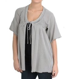 Mystree Sequin Lined Knitted Cardigan in Grey Mystree. $16.00