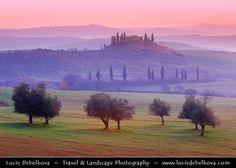 Italy - Tuscany - Val d'Orcia before Sunrise - UNESCO World Heritage Site