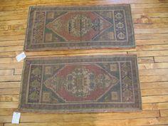 a matching set of Turkish rugs 1.7 x 3.4  (#r1940) at JDOrientalRugs.com  $249