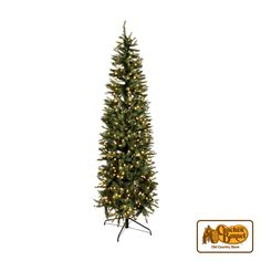 Light up your home with one of our very own beautiful natural-looking Christmas trees! The easy three piece hinged assembly sets up in minutes and the 500 clear lights provide an elegant glow to your holiday decor.    Answer fun questions and you could win in the Cracker Barrel Old Country Store Pick it to Win it Sweepstakes. Start 'picking' your answers at crackerbarrel.com/win (ends Jan 2, 2013).