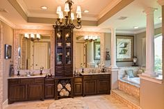 Toll Brothers McKinley Mediterranean - Sterling Ridge at The Woodlands, The Woodlands, Texas ~ bathroom vanity tower