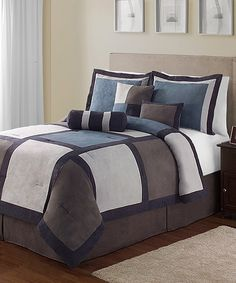 Take a look at this Blue Pinto King Comforter Set on zulily today!