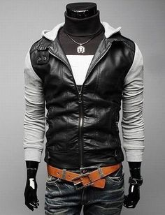 Punk Style Zip Hoodie Jacket for Men Fashion Women, Men and Kids Outfit Ideas on our website at 7ootd.com #ootd #7ootd