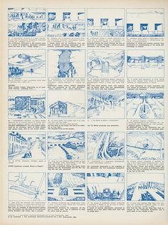 """STORY_DRAW_Superstudio, Story board for the film on the Continuous Monument, """"Casabella"""" Magazine Rendering Drawing, Cad Drawing, Monumental Architecture, Architecture Drawings, Animation Storyboard, Conceptual Drawing, Graphic Illustration, Film, Layout"""
