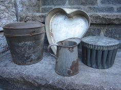 Instant Collection Antique Vintage Rusty Tin cake by peddlersfinds, $14.99