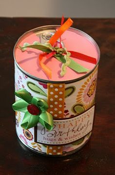 bayberry creek Crafter: Recycled Soup Can Gift Box