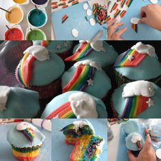#Rainbow #Dash #cupcakes made by my 10 years old daughter and me @abitoflilli www.abitoflilli.nl