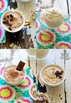 Vegan Coconut Whipped Cream {vanilla, mocha, coffee & chocolate flavors} | recipe on MarlaMeridith.com