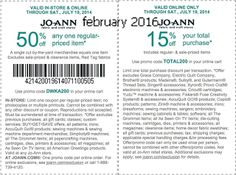 Joann Coupons Ends of Coupon Promo Codes MAY 2020 ! Retailer JOANN for In her including the it's nation's Cleveland hands states stor. Free Printable Coupons, Free Printables, Dollar General Couponing, Coupons For Boyfriend, Joanns Fabric And Crafts, Coupon Stockpile, Love Coupons, Grocery Coupons, Extreme Couponing