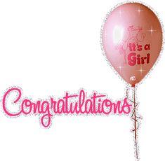 Congratulations It's A Girl New Baby Glitter Scrap New Baby Girl Congratulations, Baby Born Congratulations, Congratulations Pictures, Baby Boys, Baby Girl Born, New Baby Girls, New Baby Quotes, Baby Girl Quotes, Baby Girl Wishes