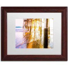 Trademark Fine Art 'Newport Pier Sunset' Canvas Art by Ariane Moshayedi, White Matte, Wood Frame, Size: 11 x 14, Multicolor
