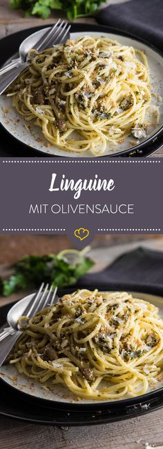 Simpel und schnell gemacht - das Pesto aus frischen Kräutern, Knoblauch, Kapern, grünen Oliven und Sardellenfilets bringt viel Geschmack an deine Pasta.