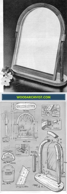 Vanity Mirror Plans - Woodworking Plans and Projects | WoodArchivist.com