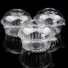 100 PCS Clear Plastic Single Cupcake Cake Case Muffin Pod Dome Holder Box for packing cupcake, muffin, fruit, salad and so on Cupcake Packaging, Packaging Box, Dessert Packaging, Plastic Packaging, Porta Cupcake, Cupcake Boxes, Diy Cupcake, Cupcake Party Favors, Cupcake Wrapper