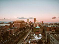 BUtiful sunset  #BU #boston #일상 #daily #데일리 #BUtiful #pinkysky by iam.rosey