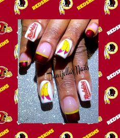 #Washingtonredskins #nailart #nailartdesigns #nails