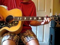 Ooh La La Lesson - The Faces--Good beginner song, love this guy's guitar, a Gibson Hummingbird?