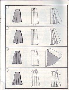 دورة في التفصيل و الخياطة - الدرس الرابع: توسيع التنورة المستقيمة - - منتدى فتكات