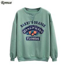 Barry's Orange Hand Picked Florida Loose Sweatshirt