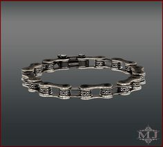 Bike Chain Silver Bracelet  Shop Now at www.manukianjewelry  #manukianjewelry #jewel #jewellery #jewelry #unisex #man #woman #women #men #handcrafted #handmade #handengraving #manmade #engraving #sterlingsilver #silver #black #bike #bicycle #motorcycle #chopper #rider #ride #motorbike #chain #engine #fashion #style #accessories #moto